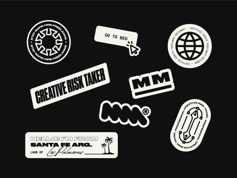 Custom stickers branding freelance designer freelancer sticker design stickers typography design icon illustration vector brand