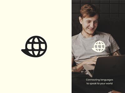 Translation company logo dialogue bubble global logo translation service translation chat dialogue icon vector branding design logotype logo design brand logo
