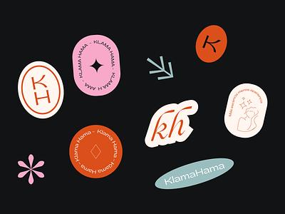 Klama Hama Stickers visual identity identity whatsapp stickers icon vector branding design logotype logo design logo brand