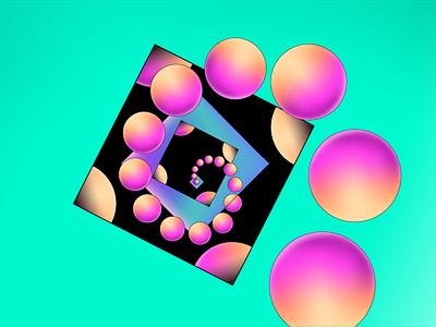 Abstract geometry illustration branding abstract geometry geometric art motion illsutration shapes volume