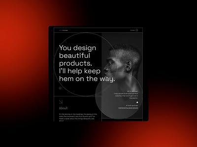 Front-end dev personal website - Home dark mode light mode developer front-end lines grid layout portfolio website website design typography ux ui