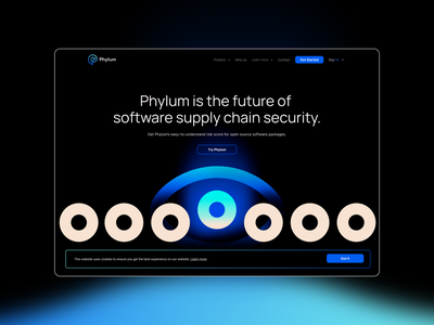 Phylum website ui branding logotype design logo design logo brand