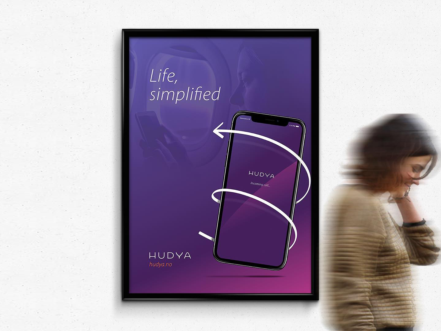 Hudya office posters product hudya norway print design brand identity branding insurance mobile services renders poster print