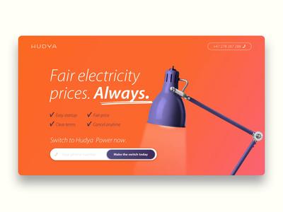 Hudya Power landing page