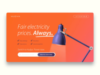 Hudya Power landing page