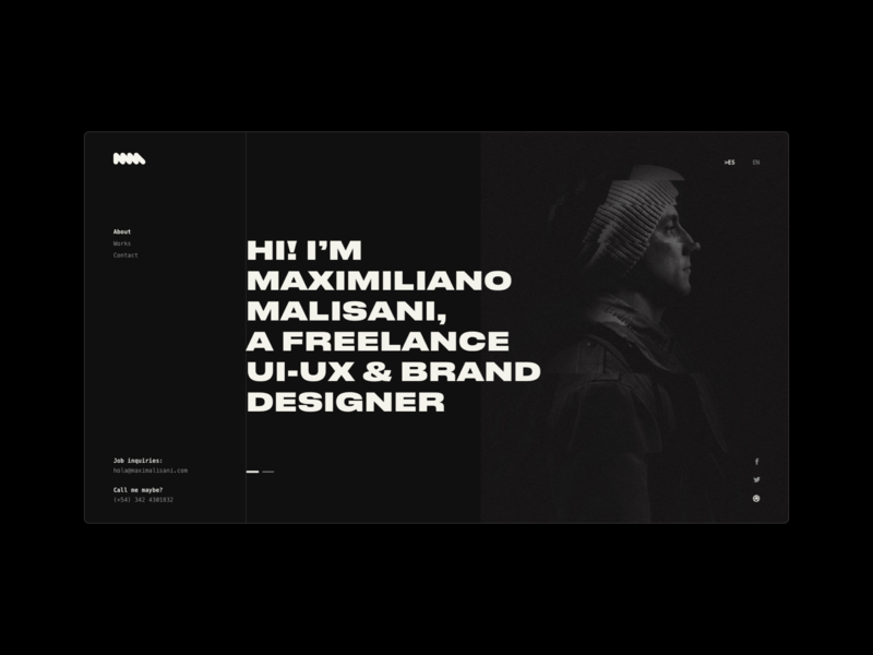 My own website black and white black user experience user interface design user interface designer portfolio designer portfolio web design web ux ui