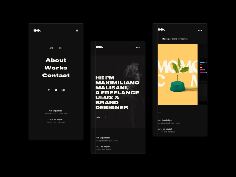 My own website website web design ux ui designer designer portfolio black and white black