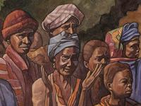 detail of Le Maître à Sangbarala - watercolor
