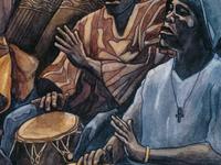 "detail of ""Kpanlogo"" - watercolor"