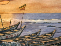 "detail of ""Nungua - Fishing Boats"""