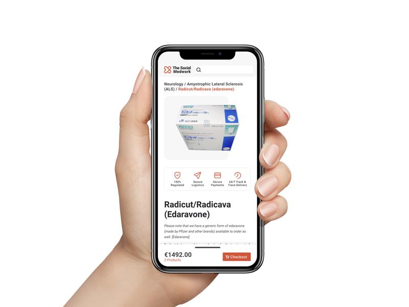 Medwork web ecommerce ux design ui