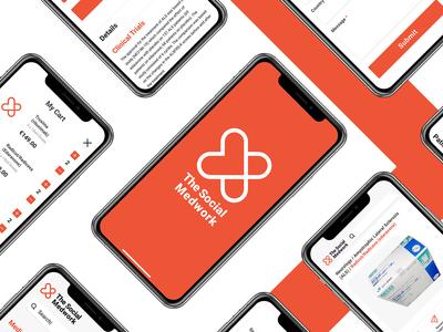 Mobile Webpage for Medicine Platform ecommerce logo design ui web branding