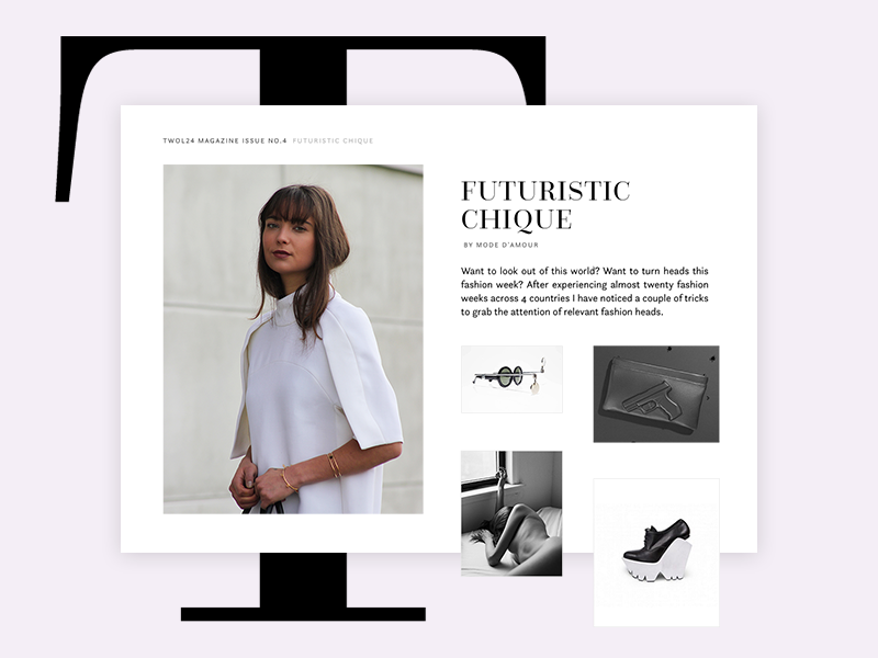 Online Fashion Magazine Article Concept By Gyor Moore On Dribbble