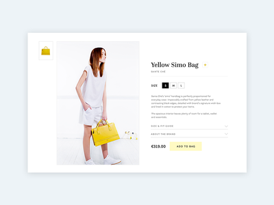 Bag tablet ui webshop fashion cart shop shoppingcart yellow bag