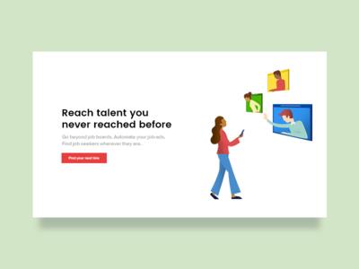 😢 Booted illustration for Wonderkind.com flat illustration kuilder timo management web hover phone screens talent work recruit