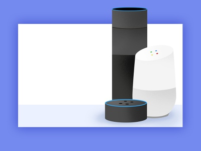 Smart Home Devices 🔈Illustrations for Speaky.ai artificial intelligence ai gadgets voice speak devices amazon alexa home google illustration kuilder timo