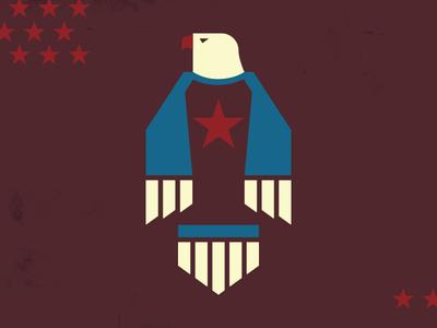 Raglan Eagle america usa star red white  blue stars eagle