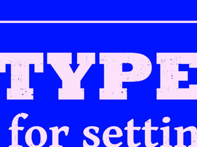 Typesettin' III lyrics slab serif blue boots type