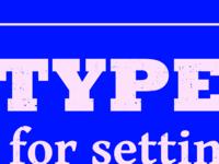 Typesettin' III