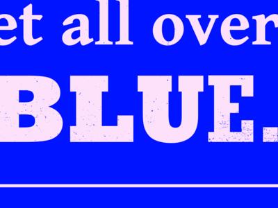 Typesettin' II lyrics slab serif blue boots type
