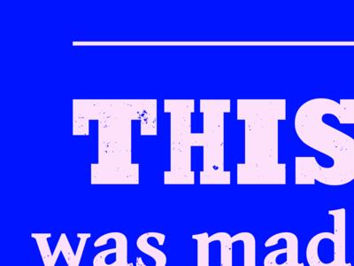 Typesettin' lyrics slab serif blue boots type
