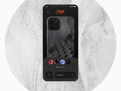 Cellairis Shout :  Phone Case Customisation interface like button checkout ecommerce art case iphone wallpaper ui uidesign minimal dark ui toolbox customize dark mode