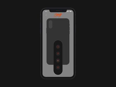 Cellairis Shout: Phone Case Customisation mockup phonecase painter customize microinteraction animated gif customisation darkmode minimal ux uidesign ui animation