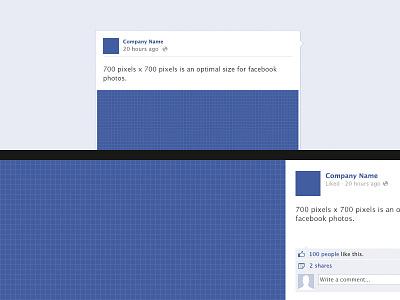 Facebook Photo Post Template free download status image