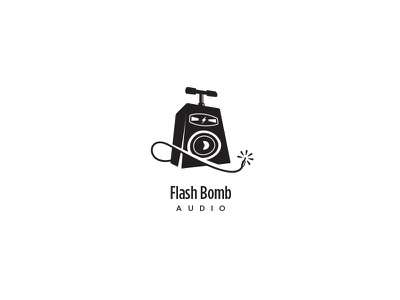 Flash Bomb Audio (v2) logo bomb tnt speaker spark critique