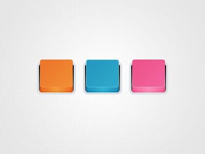 Square Buttons button rebound icon 3d