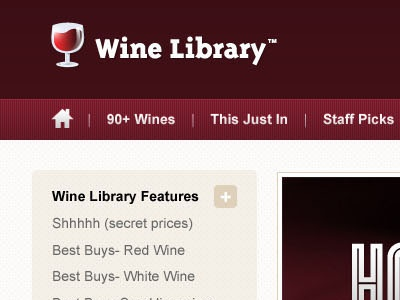 WineLibrary Web Design web ecommerce shop add to cart wine hiccup facets