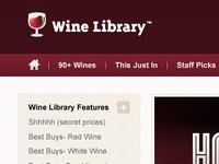 WineLibrary Web Design