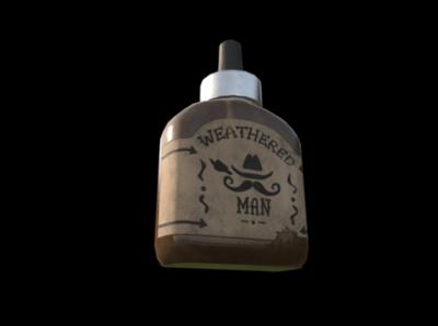 Gaming Asset Concept/3D Model: 'Weathered Man Beard Oil'