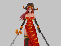 Custom Art: Fantasy on The Seven Seas! character design twitch gaming pirates