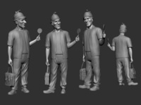 3D Character Modeling: Character Model Set
