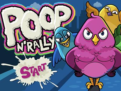"Game Artwork: ""Poop N' Rally"" Main Screen heroes 3d models fantasy digital painting game development character design illustration video games graphic art gaming"