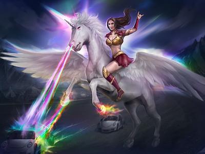 Vehicle Wrap Design: Fantasy Unicorn
