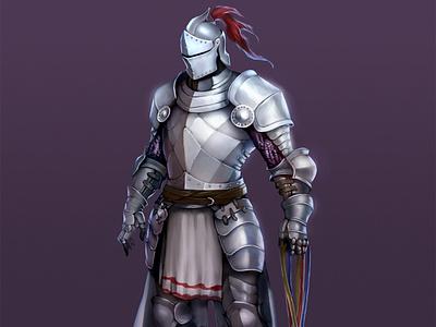 "Character Design: ""Battle Knight"" digital painting graphic art illustration character design war knight"