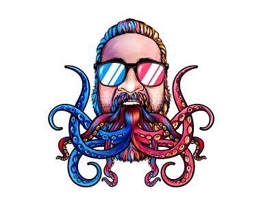 "Custom Graphic: ""Kraken Konversation""! graphic art kraken"