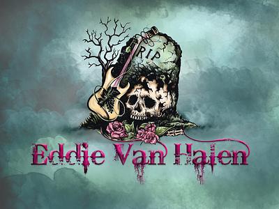 Tribute Graphic: Eddie Van Halen illustration van halen eddie van halen