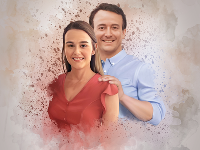 Portraits: Father & Daughter! digital painting illustration graphic art portraits