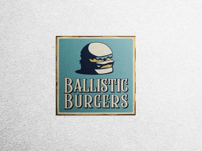 Branding: Ballistic Burgers Logo Merch Design logodesign graphic art