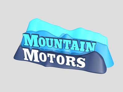 3D Branding: Mountain Motors branding logos