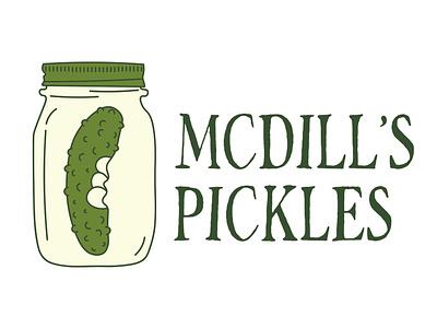"Product Branding: ""Mcdill's Pickles"" Corporate Logo graphic design logo design logo"