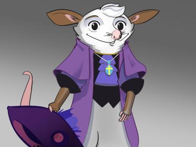 Character Design: Town Crier Opossum