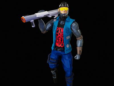 Character Design (3D): Cyberpunk Warrior video games gaming 3d modeling character design cyberpunk