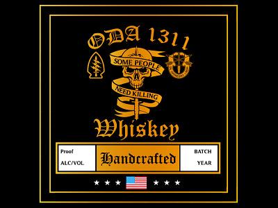 Branding: ODA 1311 Handcrafted Whiskey graphic art logo branding