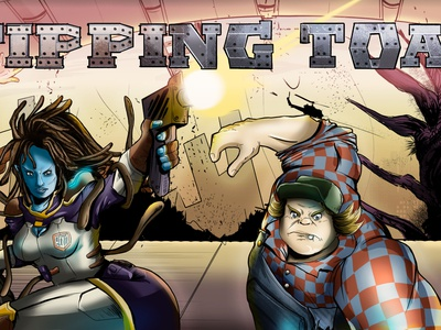 Company Promotions: Brand Banner Comic Style