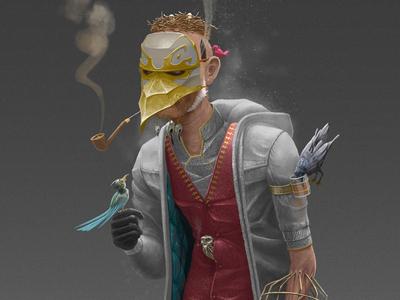 "Character Design: ""The Caretaker"" video games gaming heroes 3d models character design"