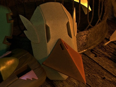 The Caretaker's Attic Test 1: 3D Environment Preview video games gaming heroes 3d models character design